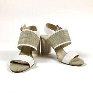 Donald J Pliner Indea Sandals/Linen & White/8.5